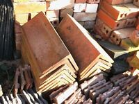 18 Old Clay 90 deg RIDGE TILES from our old outbuilding
