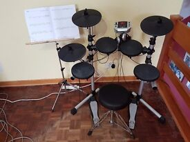 Gear4Music Electronic Drum Set DD400 With Stool And Headphones