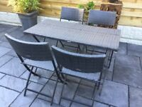 Garden Set, All Weather Rattan, New / Boxed
