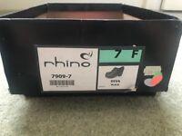 Rhino 7F Diva Black School Shoes - Brand New