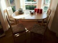 Dining room table and chairs plus extras (Job Lot)