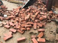 1000's of demolition Victorian imperial hand made red stock bricks
