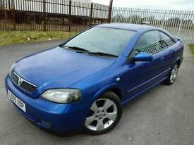 2005 VAUXHALL ASTRA 2.2 BERTONE COUPE - 80K MILES, 12 MONTHS MOT, LOOKS GREAT, HALF LEATHER!!.