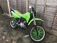 Kawasaki KMX 125 Green Black Motorbike Motorcycle