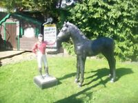 CAST IRON VICTORIAN HORSE JOCKY STABLES Tethering post Advertizing item Stable Feature