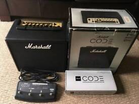 Marshall code 25 watt with foot switch