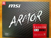 MSI AMD Radeon RX 580 ARMOR OC - 8GB GDDR5 Graphics Card