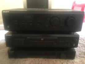 Sony Amplifier, CD Player, Synthesizer