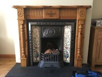 Beautiful Pine Fire Surround Excellent Condition - £90