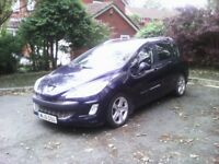 Peugeot 308 sw 1.6hdi ,2010 ,with pan roof ,