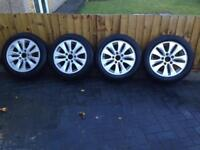 "BMW 1SERIES 15"" Alloy wheels (2 with brand new tyres)"