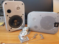 JBL Control 1 mini monitor speakers with wall mounting