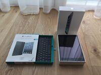 Apple iPad Mini - Wi-Fi, 32GB, Space Grey, Smart Cover, and Logitech Keyboard