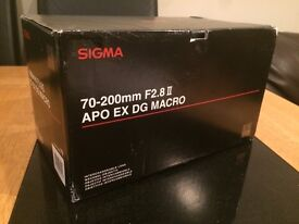 sigma 70-200mm APO EX DG Macro mark 11 lens for canon