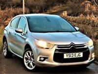 SUBERB MPG! (2013) Citroen DS4 1.6 HDI DSTYLE 5DR -DIESEL -SERVICE HISTORY - ALLOYS- LOW MILES