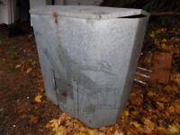 Large metal coal bunker