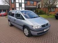 2002 Vauxhall Zafira 1.6 petrol in excellent condition 7 seater