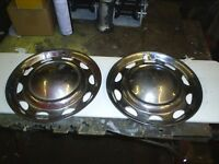 pair of wheel trims for mini 10 in wheels decent condition ideal for trailer