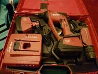 Hilti 4000A cordless drywall gun with 2 batteries