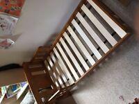 JOHN LEWIS WOODEN BABY TODDLER BED