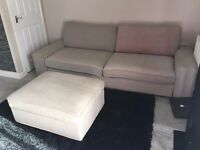 ikea sofabed + footstool