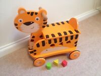 Ride on tiger and shape sorter
