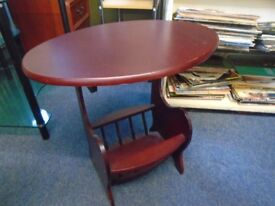 small occasianol table with magazine rack.