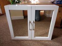 John Lewis Mirror Bathroom Double Door Cabinet