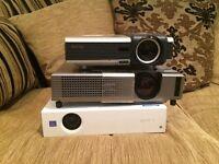 3 x projectors benq, hitachi ,Sony ,job lot for spares
