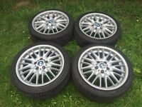 Genuine BMW MV1 alloy wheels 18 inch with tyres 5x120