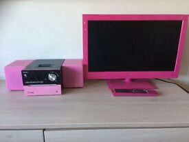 Music system in pink