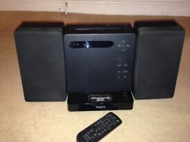 Sony, Micro HI-FI Component System, DAB & stereo radio, iPod/MP3 connector and CD player
