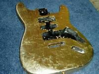 Guitar body gold leaf strat. reduced