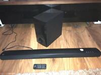 LG Sound-bar with dedicated sub (RRP £200)