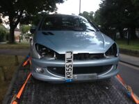 2006 Peugeot 206 breaking for parts