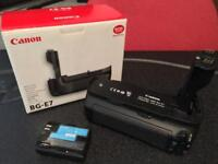Canon BGE-7 battery grip plus battery for 7D