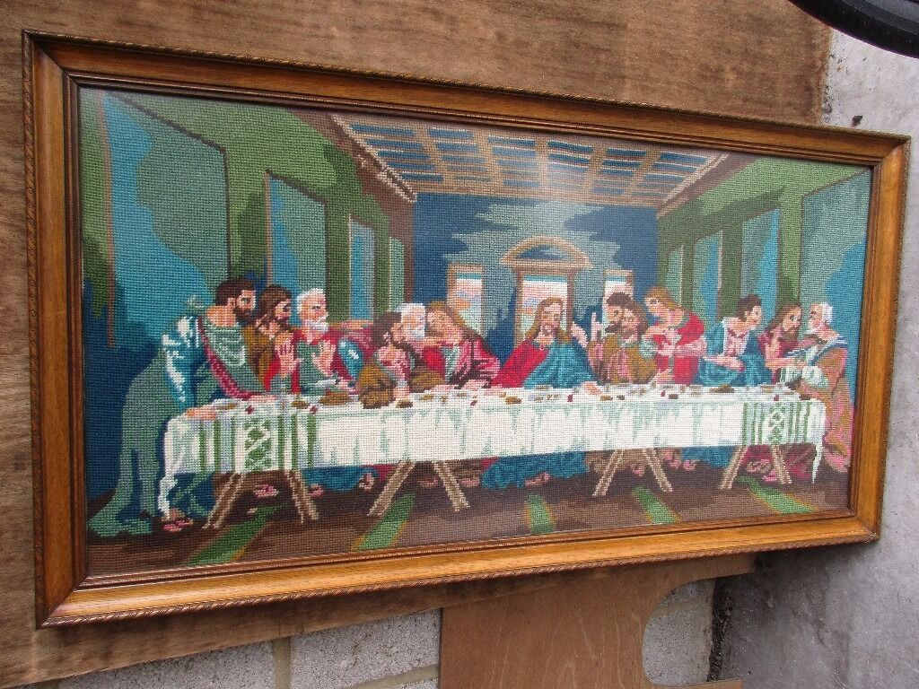 Stunning very large worked tapestry depicting The Last Supper ...