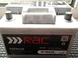 VARTA/RAC 52 AMP HOUR CAR BATTERY