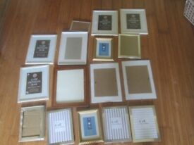 large lot of new unused photo frames various sizes