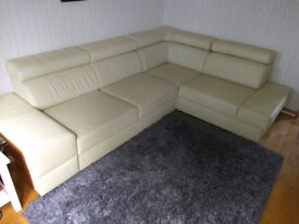 Light Leather Sofa Bed for Sale