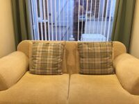 2 Blue Checked Cushions from Next