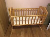 Mamas and papas wooden swing crib