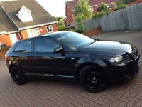 AUDI A3 SPORT 1.6 BLACK, FULL RED LEATHER INTERIOR