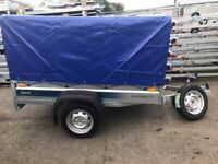 BRAND NEW FARO PONDUS trailer car box with high cover and spare wheel