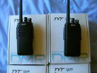 4x 10 watt true digital two way radios MINT CONDITION very powerful and long range