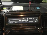 VW T5.1 DAB radio headunit stereo with code