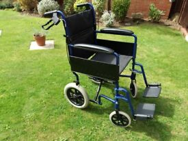 VERY LIGHTWEIGHT WHEELCHAIR.. Easily folds to fit in car boot - Aluminium wheel chair