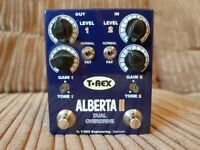 T-Rex Alberta 2 dual overdrive distortion pedal - 2 Ibanez Tube Screamers in 1 box!