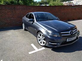 Mercedes-Benz C Class C220 CDI BlueEFFICIENCY AMG Sport Coupe 7G-Tronic Plus, SAT NAV+RED LTHR