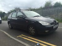 Ford Focus 54 reg in black 5 door ,drives well ,roof bars ,px welcome